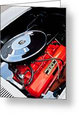 1963 Chevrolet Corvette Split Window Engine -147c Greeting Card