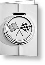 1963 Chevrolet Corvette Split Window - Sting Ray Emblem -257bw Greeting Card