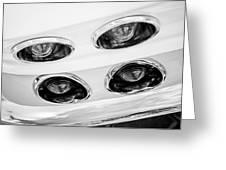 1963 Chevrolet Corvette Split Window Taillights -240bw Greeting Card