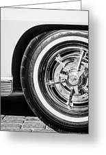 1963 Chevrolet Corvette Split Window Wheel -090bw Greeting Card