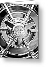 1963 Chevrolet Corvette Split Window Wheel -111bw Greeting Card
