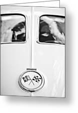 1963 Chevrolet Corvette Split Window Wheel Emblem -118bw Greeting Card