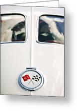 1963 Chevrolet Corvette Split Window Wheel Emblem -118c Greeting Card