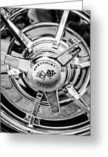 1963 Chevrolet Corvette Split Window Wheel Emblem -478bw Greeting Card