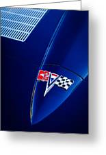 1963 Chevrolet Corvette Sting Ray Fuel Injected Split Window Coupe Hood Emblem Greeting Card