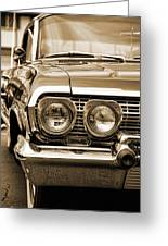 1963 Chevrolet Impala Ss In Sepia Greeting Card