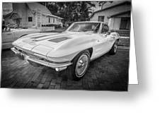 1963 Chevy Corvette Coupe Painted Bw    Greeting Card