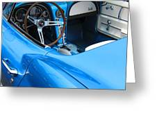 1963 Corvette Driver Approach Greeting Card