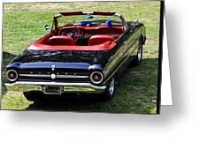 1963 Ford Futura Convertible Greeting Card