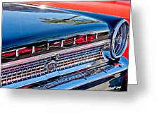 1963 Ford Galaxie 500xl Taillight Emblem Greeting Card