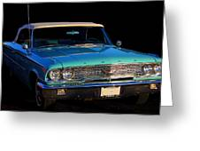 1963 Ford Galaxy Greeting Card