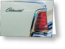 1963 Lincoln Continental Taillight Emblem -0905bw Greeting Card