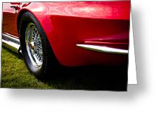 1963 Red Chevy Corvette Stingray Greeting Card