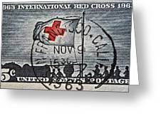1963 Red Cross Stamp - San Francisco Postmark Greeting Card