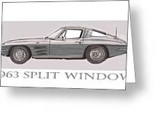 1963 Split Window Greeting Card