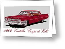 1964 Cadillac Coupe De Ville Greeting Card