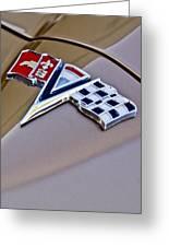 1964 Chevrolet Corvette Coupe Emblem Greeting Card