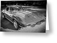 1964 Chevy Corvette Coupe Bw Greeting Card