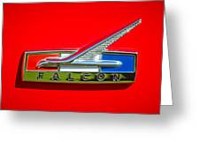 1964 Ford Falcon Emblem Greeting Card