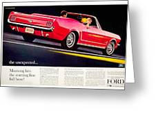 1964 - Ford Mustang Convertible - Advertisement - Color Greeting Card