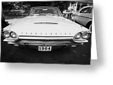 1964 Ford Thunderbird Painted Bw Greeting Card