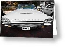 1964 Ford Thunderbird Painted Greeting Card