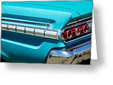 1964 Mercury Comet Taillight Emblem Greeting Card