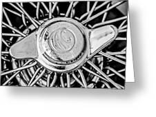 1964 Shelby 289 Cobra Wheel Emblem -0666bw Greeting Card