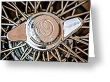 1964 Shelby 289 Cobra Wheel Emblem -0666c Greeting Card