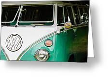 1964 Volkswagen Vw Samba 21 Window Bus Greeting Card