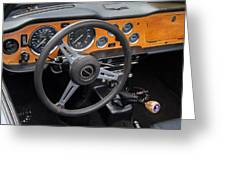1965 Austin Healey Interior Greeting Card