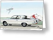 1965 Barracuda  Classic Plymouth Muscle Car Greeting Card