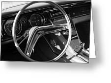 1965 Buick Riviera Steering Wheel Greeting Card