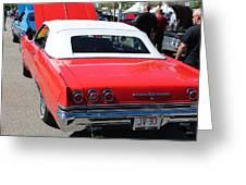 1965 Chevrolet Impala Greeting Card