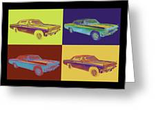 1965 Chevy Impala 327 Convertible Pop Art Greeting Card