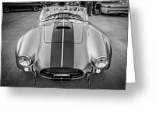 1965 Ford Ac Cobra Replica Painted Bw Greeting Card