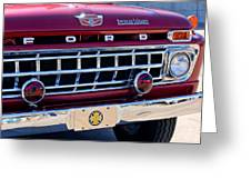 1965 Ford American Lafrance Fire Truck Greeting Card
