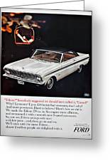 1965 Ford Falcon Ad Greeting Card