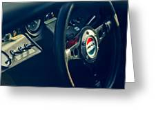 1965 Ford Gt 40 Steering Wheel Emblem Greeting Card