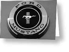 1965 Ford Mustang Emblem Greeting Card