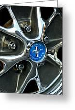 1965 Ford Mustang Wheel Rim Greeting Card
