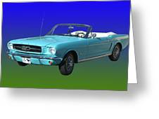 1965 Mustang Convertible Greeting Card