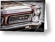 1965 Pontiac Gto Grille Emblem -0442ac Greeting Card