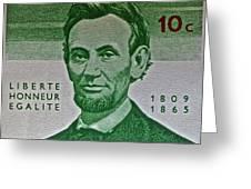 1965 Rwanda Abraham Lincoln Stamp Greeting Card