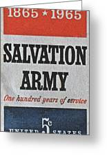 1965 Salvation Army Stamp Greeting Card
