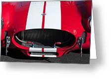 1965 Shelby Cobra Front Grille - Emblem Greeting Card
