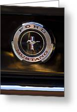 1965 Shelby Prototype Ford Mustang Emblem 2 Greeting Card