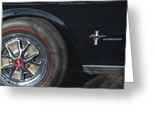 1965 Shelby Prototype Ford Mustang Wheel 2 Greeting Card