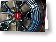 1965 Shelby Prototype Ford Mustang Wheel Greeting Card