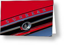 1965 Sunbeam Tiger Grille Emblem Greeting Card